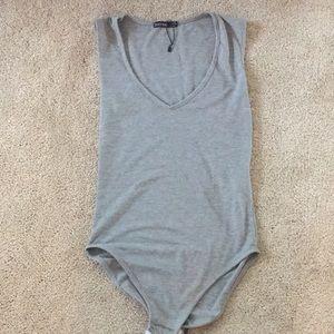 Grey bodysuit from boohoo
